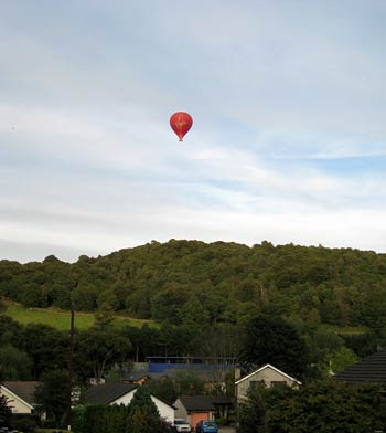 Balloon over Backbarrow Gorge